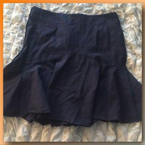 🖤ZAC POSEN🖤 Solid Navy Blue Godet Skirt